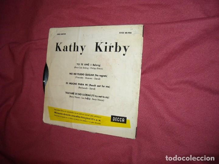 Discos de vinilo: KATHY KIRBY - YO TE AME + 3 (EP DECCA 1965 ESPAÑA) EUROVISION 1965 ver fotos - Foto 2 - 118657479