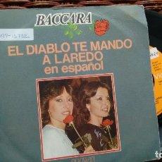 Discos de vinilo: SINGLE (VINILO) DE BACCARA AÑOS 70. Lote 118657895