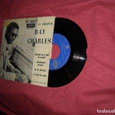 Discos de vinilo: RAY CHARLES - SENTADO EN LA CIMA DEL MUNDO + 3 - LONDON SDGE80780 EP 1964 SPA. Lote 118657979