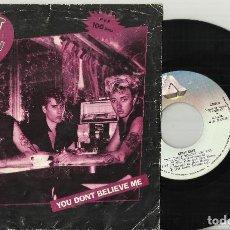 Discos de vinilo: STRAY CATS SINGLE YOU DON'T BELIEVE ME - WASN'T THAT GOOD ESPAÑA 1981. Lote 118673015