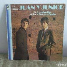 Discos de vinilo: JUAN Y JUNIOR - LO MEJOR LP DISCO VINILO. Lote 118679379