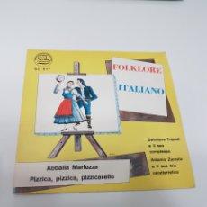 Discos de vinilo: FOLKLORE ITALIANO- SALVATORE TRIPODI E IL SUO ANTONIO ZURZOLO E IL SUO TRIO CARATTEERISTICO. Lote 118682532