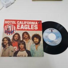 Disques de vinyle: EAGLES - HOTEL CALIFORNIA - EDICIÓN DE 1977 DE ESPAÑA. Lote 118682908