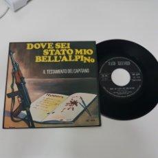 Discos de vinilo: DOVE SEI STATO MIO BELL'ALPINO. Lote 118682970