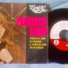 Discos de vinilo: FRANÇOISE HARDY - PIENSO EN EL AMOR + 3 ED. ESPAÑOLA EP SELLO HISPAVOX / VOGUE DE 1963 BUEN ESTADO. Lote 118686823