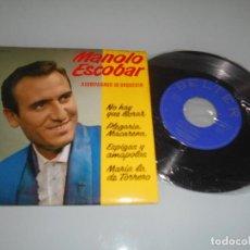 Discos de vinilo: MANOLO ESCOBAR -EP 1962 - NO HAY QUE LLORAR + 3. Lote 118711715
