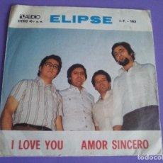 Discos de vinilo: SINGLE GRUPO ELIPSE . I LOVE YOU/AMOR SINCERO. EDITADO POR AUDIO & VIDEO S.A. J.F.103. AÑO 1975.. Lote 118724579
