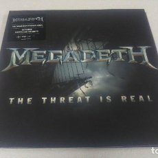 Discos de vinilo: MEGADETH - THE THREAT IS REAL- 180 GRAMOS. Lote 118732111