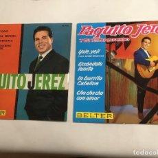 Discos de vinilo: PAQUITO JEREZ , LOTE DE 2 DISCOS DE BELTER , BUEN ESTADO , LEER DESCRIPCIÓN. Lote 118745323