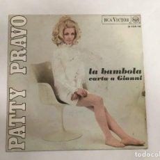 Discos de vinilo: PATTY PRAVO LA BAMBOLA - CARTA A GIANNI DE RCA REF. M 11530 DE 1968. Lote 118745951