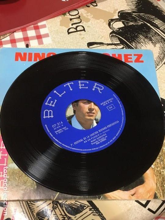 Discos de vinilo: NINO SANCHEZ Es un pueblo - Perdonar de BELTER Ref. 07-314 de 1966 impecable - Foto 2 - 118749011