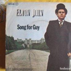 Discos de vinilo: ELTON JOHN - SONG FOR GUY / LOVESICK (SINGLE ESPAÑOL, ROCKET RECORD 1978). Lote 118783735
