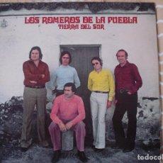 Discos de vinilo: LOS ROMEROS DE LA PUEBLA , TIERRA DEL SUR , RARO LP AÑO 1979. Lote 118810027