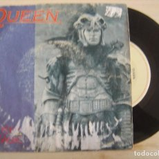 Discos de vinilo: QUEEN - A KIND OF MAGIC + A DOZEN RED ROSES FOR MY DARLING - HIGHLANDER - SINGLE ESPAÑOL 1986 - EMI. Lote 118817355