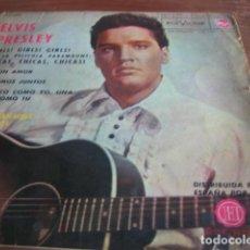 Discos de vinilo: ELVIS PRESLEY - GIRLS, GIRLS, GIRLS + 3 **** RARO EP ESPAÑOL 1963, RCA VICTOR 3-20698. Lote 118852031