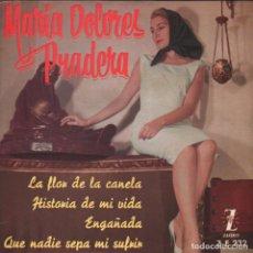 Discos de vinilo: MARIA DOLORES PRADERA/ LA FLOR DE LA CANELA ... EP ZAFIRO DE 1961 RF-3441 , BUEN ESTADO. Lote 118886611
