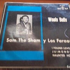 Discos de vinilo: SAM THE SHAM Y LOS FARAONES. WOOLY BULLY + 3. EDICIÓN MGM. COTIZADO.. Lote 118897947
