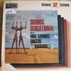 Discos de vinil: LP - MIKE SAMMES SINGERS - SOUNDS SENSATIONAL (SPAIN, LA VOZ DE SU AMO 1966). Lote 118905907