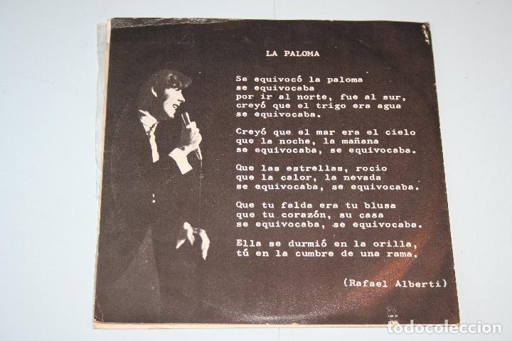Discos de vinilo: JOAN MANEL SERRAT *** SINGLE VINILO MUSICA ESPAÑOLA AÑO 1969 *** NOVOLA ** - Foto 2 - 118929167