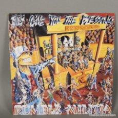 Discos de vinilo: LP VINILO HEAVY METAL. RUMBLE MILITIA - THEY GIVE YOU THE BLESSING. 1990. Lote 118930583