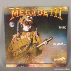 Discos de vinilo: LP VINILO HEAVY METAL. MEGADETH - SO FAR, SO GOOD, SO WHAT. 1988. Lote 118934651