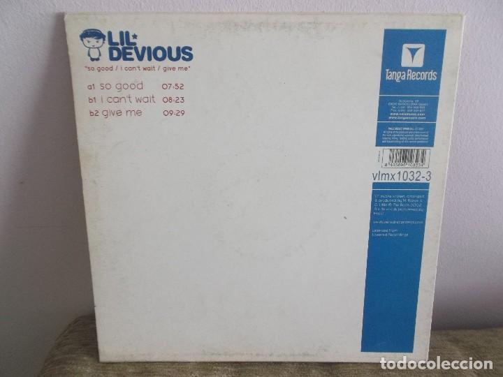 Discos de vinilo: LIL DEVIOUS - SO GOOD ESPECIAL DJ DISCO VINILO ELECTRONICA - Foto 2 - 118956503