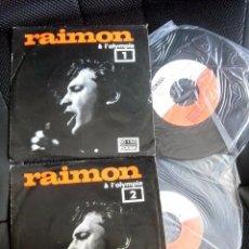 Discos de vinilo: RAIMON DOBLE SINGLE EDICION EDIGSA EN DIRECTO OLYMPIA PARIS CANTAUTOR CATALAN AÑOS 60. Lote 119002099