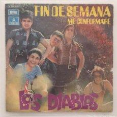 Discos de vinilo: LOS DIABLOS - FINDE SEMANA / SINGLE 1971. Lote 119031039