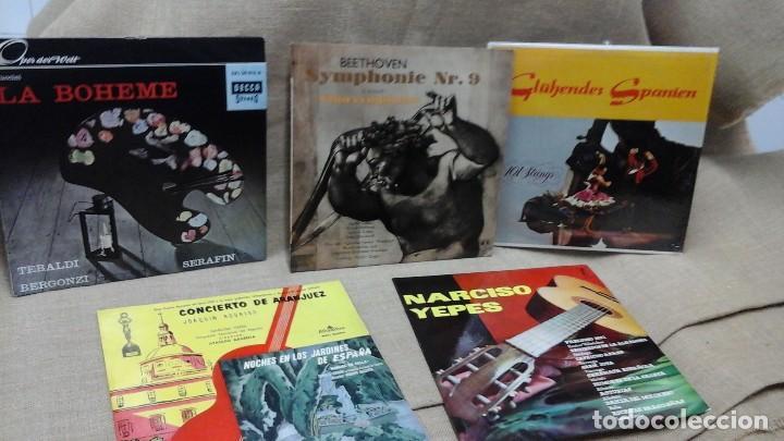 LOTE DE DISCOS DE VINILO , MÚSICA CLÁSICA (Música - Discos - Singles Vinilo - Clásica, Ópera, Zarzuela y Marchas)