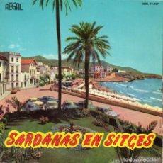 Discos de vinilo: SARDANAS EN SITGES, EP, LA PROCESSÓ DE SANT BARTOMEU + 3, AÑO 1963. Lote 119059067