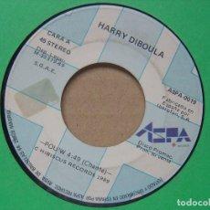 Discos de vinilo: HARRY DIBOULA - POU´W - SINGLE PROMOCONAL ASPA- 1989 - SOLO UNA CARA. Lote 119067915