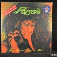 Discos de vinilo: POISON - OPEN UP AND SAY... AHH! - LP. Lote 119075695