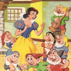 Discos de vinilo: SINGLE POSTAL FLEXIDISCO BLANCA NIEVES Y LOS...LA BODA DE LA PRINCESA FONOSCOPE SPAIN 1958 DISNEY. Lote 119081115