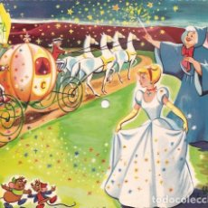 Discos de vinilo: SINGLE POSTAL FLEXIDISCO LA CENICIENTA PREPARATIVOS DE BAILE FONOSCOPE SPAIN 1958 CUENTO DISNEY. Lote 119081363