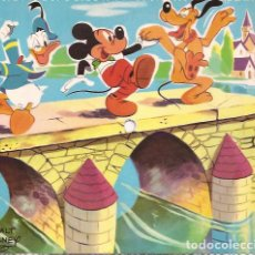 Discos de vinilo: SINGLE POSTAL FLEXIDISCO PLUTO MICKEY Y DONALD FONOSCOPE AL PAIS DE LA...SPAIN 1958 CUENTO DISNEY. Lote 119081583