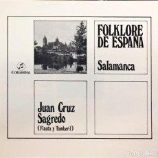 Discos de vinilo: SALAMANCA. DISCO DE JUAN CRUZ SAGREDO. 1976. Lote 119088155