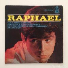 Discos de vinilo: RAPHAEL ?- UN LARGO CAMINO / SINGLE 1964 / PEDIDO MÍNIMO 6€. Lote 119092015