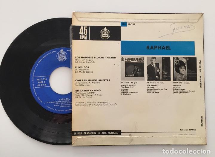 Discos de vinilo: Raphael ?- Un Largo Camino / SINGLE 1964 / PEDIDO MÍNIMO 6€ - Foto 2 - 119092015