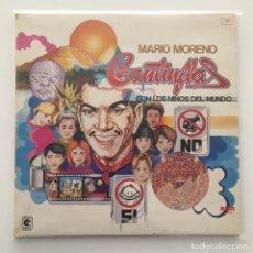 Discos de vinilo: MARIO MORENO CANTINFLAS - CON LOS NIÑOS DEL MUNDO / LP 1983 / PEDIDO MÍNIMO 10€. Lote 119093555