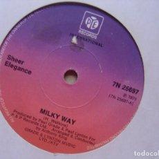 Discos de vinilo: SHEER ELEGANCE - MILKY WAY + SATISFACTION IS WHAT I NEED - SINGLE UK PYE - 1975. Lote 119108759