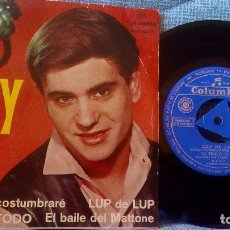Discos de vinilo: BABY - LUP DE LUP / YA TENGO TODO / EL BAILE DEL MATTONE / NUNCA ME ACOSTUMBRARE COLUMBIA SCGE 80620. Lote 119121551