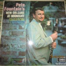 Discos de vinilo: PETE FOUNTAIN´S NEW ORLEANS AT MIDNIGHT LP - ORIGINAL INGLES - CORAL 1964 MONO - 1ER PRENSAJE -. Lote 119127911