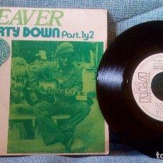 Discos de vinilo: LITTLE BEAVER - PARTY DOWN - RCA VICTOR XB-02004 - PROMO - VINILO NUEVO - CARPETA NEAR MINT. Lote 119132563