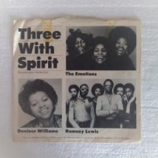 Discos de vinilo: THREE WITH SPIRIT. THE EMOTIONS, DENIECE WILLIAMS & RAMSEY LEWIS.. Lote 119148167