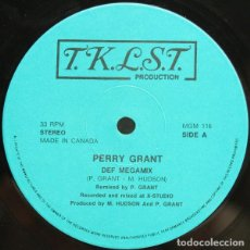 Discos de vinilo: PERRY GRANT - T.K.L.S.T. PRODUCTION - MGM 116 - CANADA - MIXED, UNOFFICIAL RELEASE. Lote 119150559