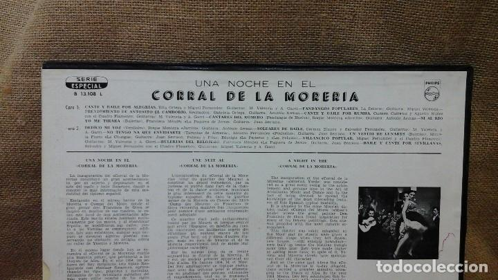 Discos de vinilo: Una noche en el corral de la morería . Philips . Con la Paquera de Jerez, la Chunga etc - Foto 2 - 119150675