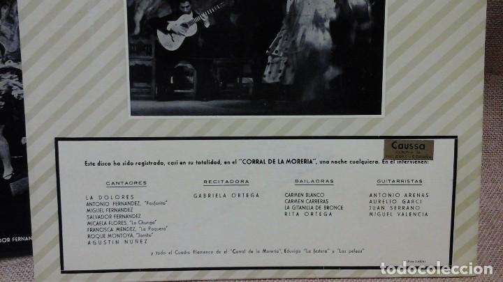 Discos de vinilo: Una noche en el corral de la morería . Philips . Con la Paquera de Jerez, la Chunga etc - Foto 4 - 119150675