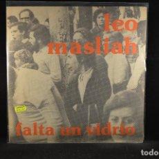 Discos de vinilo: LEO MASLÍAH - FALTA UN VIDRIO - LP FOLK URUGUAYO. Lote 119169491