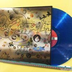 Discos de vinilo: LED ZEPPELIN LP III VINILO COLOR AZUL CON PORTADA METALIZADA MUY RARO COLECCIONISTA. Lote 181453300