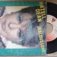 Discos de vinilo: HAZELL DEAN - JEALOUS LOVE + STAY IN MY LIFE - SINGLE PROMOCIONAL VICTORIA - 1984. Lote 119210643